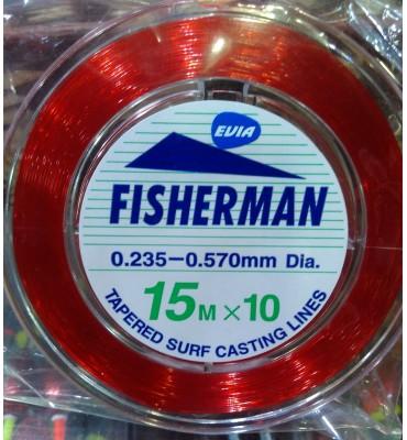 Bajos de Línea Cónicos Surfcasting Evia Fisherman - Rojo