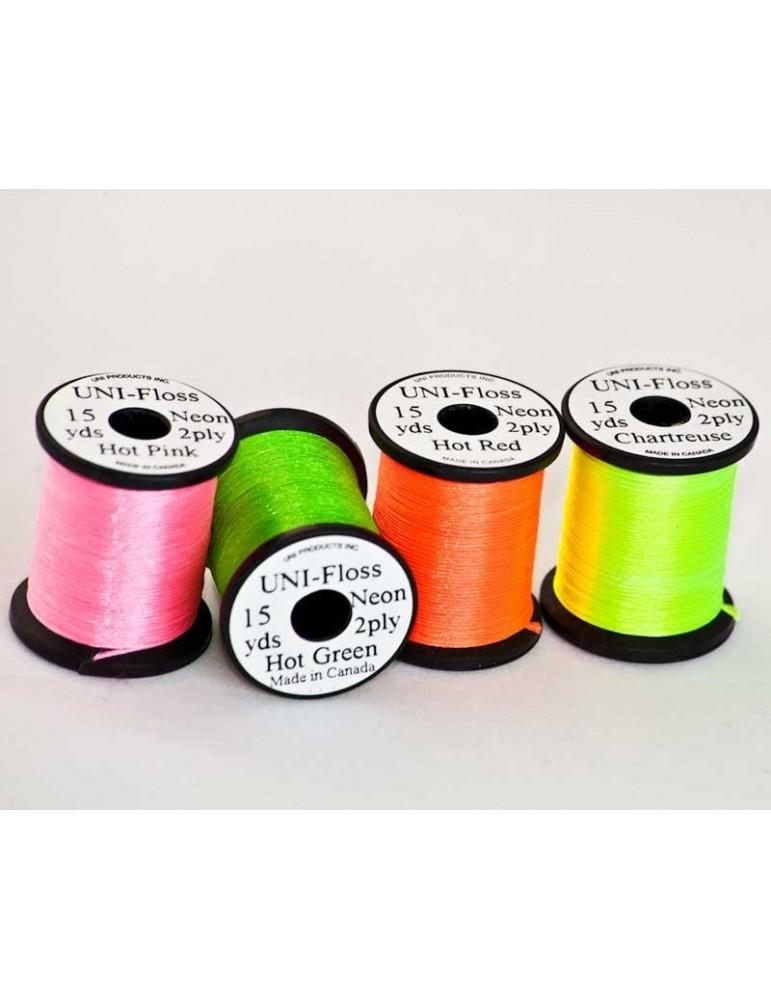 Light Orange Fly Tying Uni-Neon 2ply Floss 15 yd
