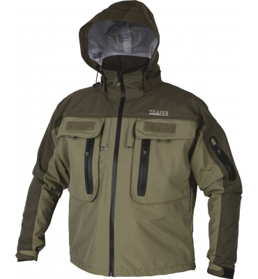 "Breathable Fishing Jacket Traper ""Creek"" - Olive Green"